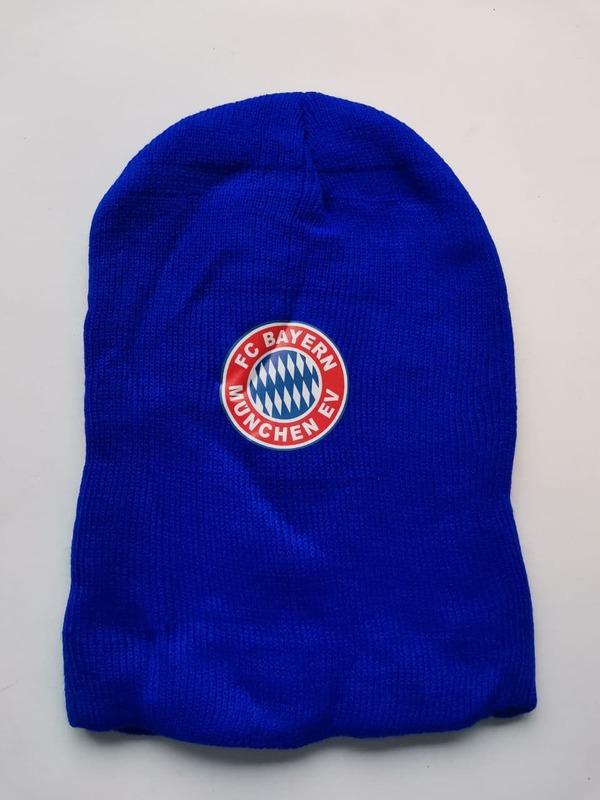 Акриловая шапка синия Бавария