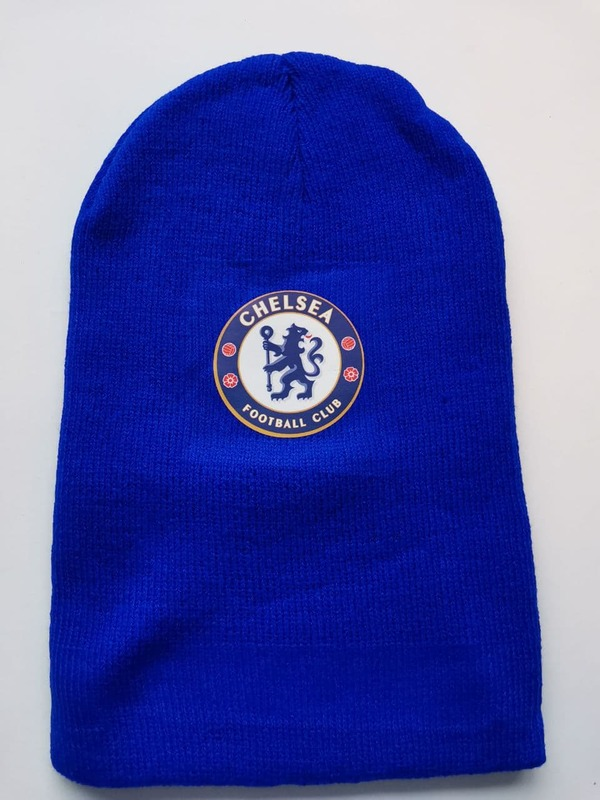 Акриловая шапка синия Челси