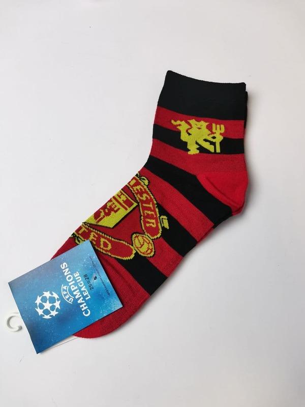 Носки Манчестер Юнайтед черно-красные