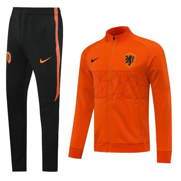 Костюм спортивный сборной Голландии оранжевый сезон 2020-2021