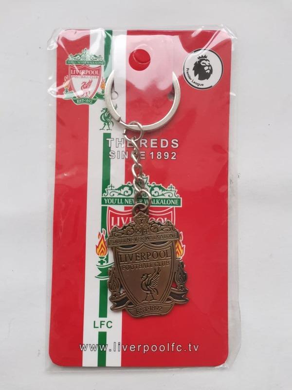 Металлический брелок с эмблемой Ливерпуль