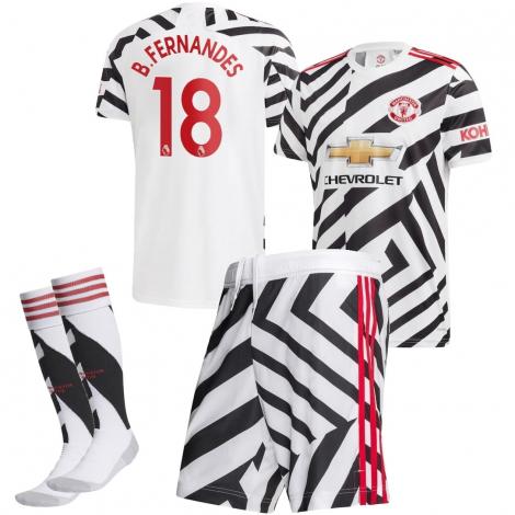 Манчестер Юнайтед Футбольная форма детская резервная 2020-2021 Бруно Фернандеш 18