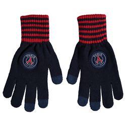 Зимние вязаные перчатки с эмблемой ПСЖ